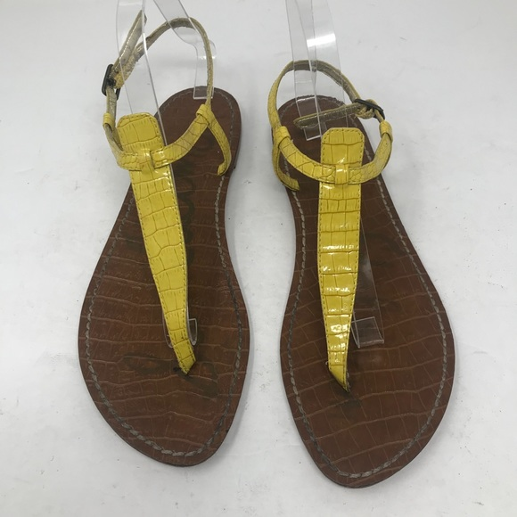 fa804e31213b35 Sam Edelman Gigi T-Strap Sandal yellow. M 5b7eabb0dcf85505e226b3bc